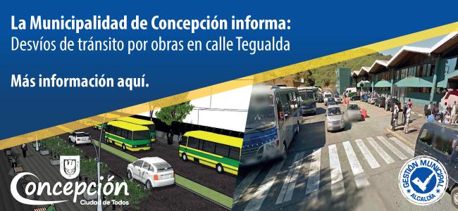Información: Desvío de tránsito por obras en calle tegualda. ver más