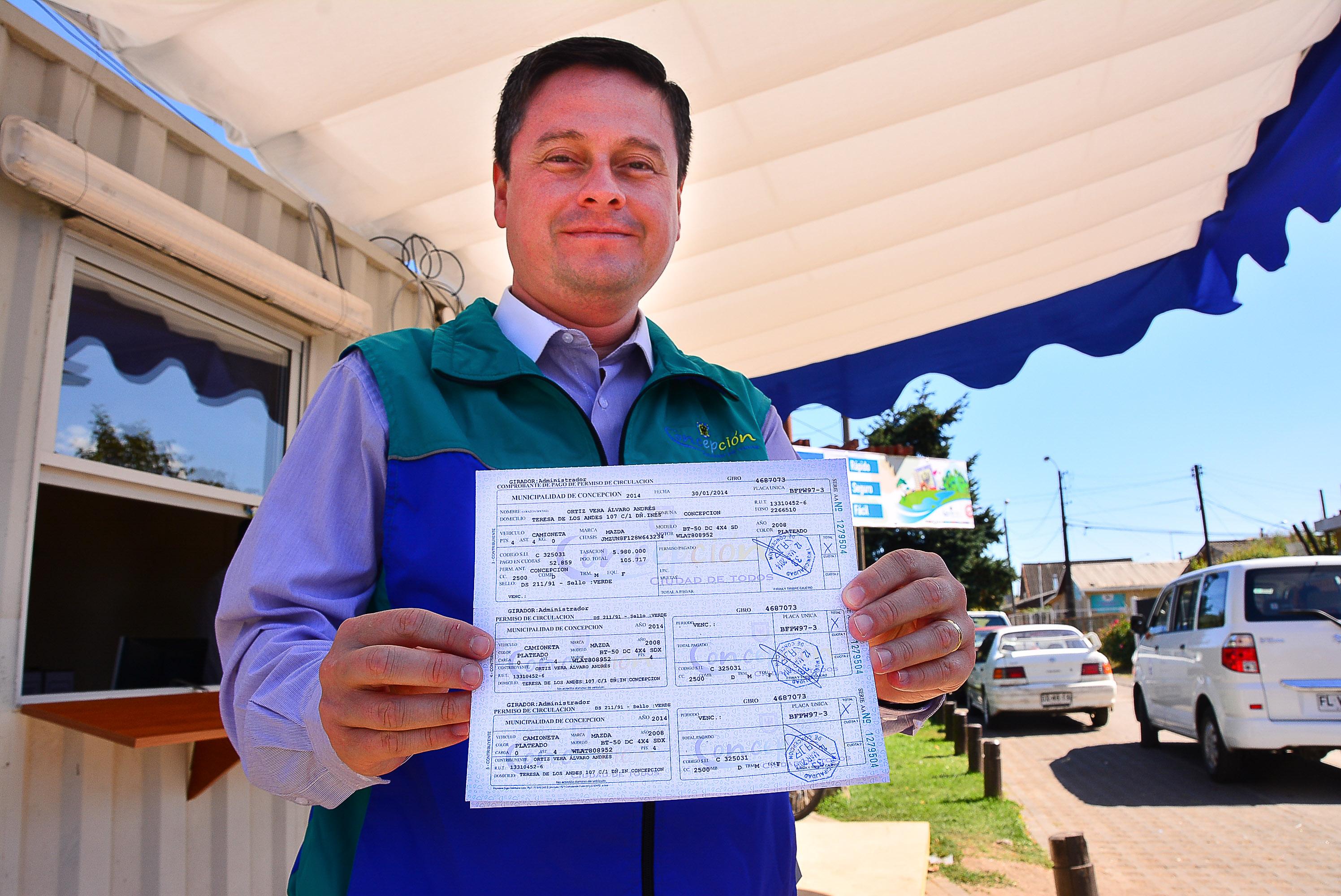 pago tarjeta de circulacion 2016 municipio de concepción